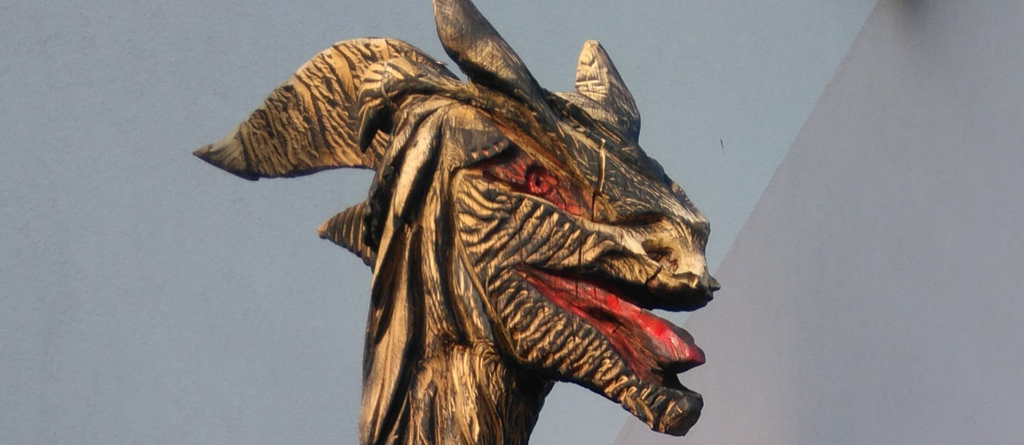 Rzeźba smoka w Smogorzowie