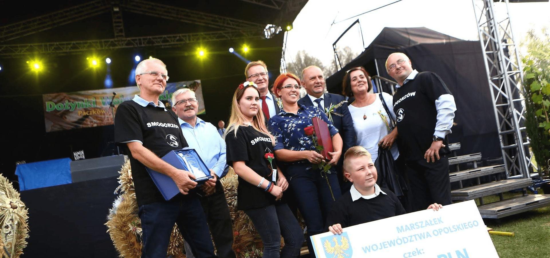 Delegacja Smogorzowa z nagrodą za III miejsce w konkursie Piękna Wieś Opolska 2018