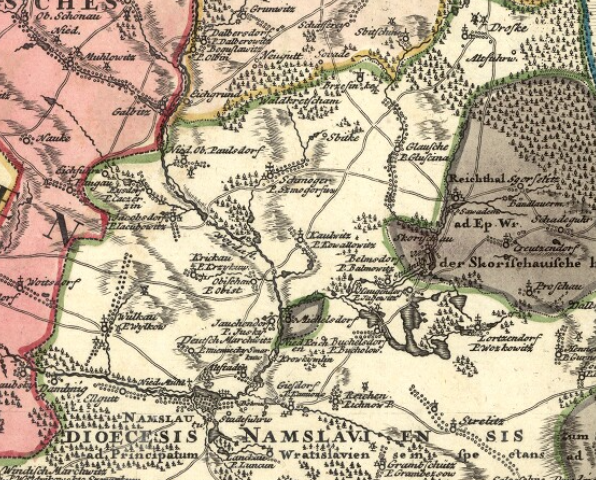 stara mapa Smogorzów 1736
