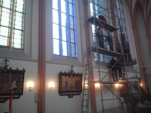 Remont witraży wkościele św.Jana Chrzciciela (inwestycja parafii).