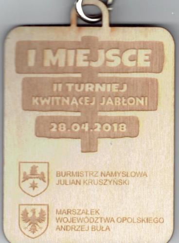 Medal, jaki otrzymał każdy zawodnik naszej drużyny.